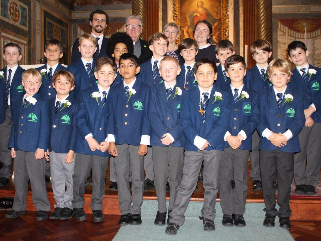 school boys at holy communion
