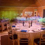 school event dinner tables